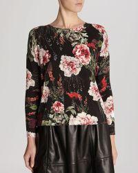 Karen Millen Sweater - Rose Print - Lyst