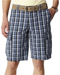 Dockers Ripstop Plaid Cargo Shorts - Lyst