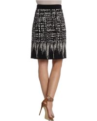 Nic + Zoe Faded Squares Wink Skirt black - Lyst