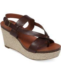 Lucky Brand Womens Naturale Platform Wedge Sandals - Lyst