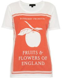 Burberry Prorsum Book Cover Printed Cotton T-Shirt - Lyst