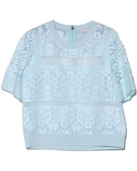 Rebecca Taylor Patch Lace Top - Lyst