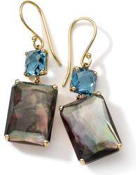 Ippolita - 18k Gold Rock Candy Gelato Topaz & Black Shell Earrings - Lyst
