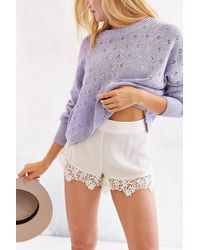 Pins And Needles - Lace-Trim Pin-Up Short - Lyst