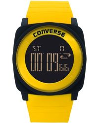 Converse | Unisex Digital Full Court Yellow Silicone Strap 45mm Vr034905 | Lyst