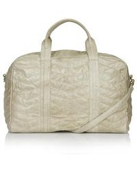 Topshop Zig-Zag Quilted Leather Luggage Bag - Lyst