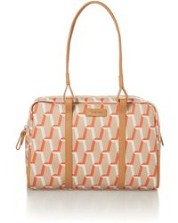Calvin Klein Print Orange Hobo Bag - Lyst