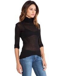 James Perse Cashmere Rib Turtle Neck - Lyst