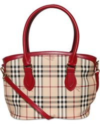 Burberry Small Newfield Haymarket Pvc Bag - Lyst