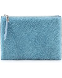 Opening Ceremony Haircalf Lyo Zip Clutch - Mist Blue - Lyst