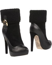 John Galliano Ankle Boots black - Lyst