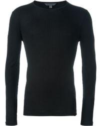 John Varvatos   Longsleeved Ribbed T-shirt   Lyst