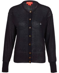 Vivienne Westwood Red Label | Black Orb Cotton Cardigan | Lyst