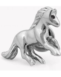 Tateossian - Horse Pin With Black Swarovski Elements - Lyst
