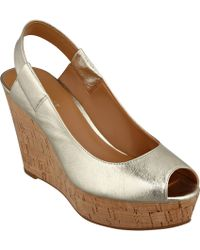 Nine West Cantalope Slingback Wedge Sandals - Lyst