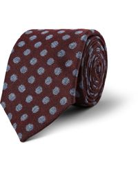 Turnbull & Asser Spotted Cashmere Wool and Silkblend Tie - Lyst