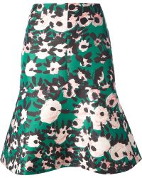 Marni Peplum Skirt - Lyst