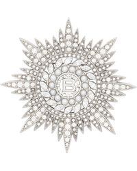 Balenciaga | Maria Cristina Crest Brooch | Lyst