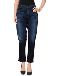 Citizens of Humanity Denim Trousers blue - Lyst