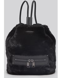 Milly Backpack Skylar Faux Fur - Lyst