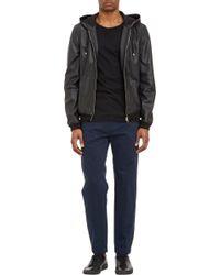Basco - Leather Zipfront Hooded Jacket - Lyst