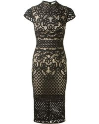 Lover Black Lace Dress - Lyst