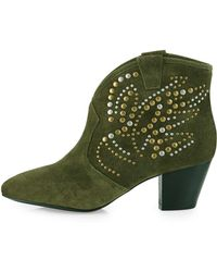 Ash Spirit Studded Suede Boot - Lyst