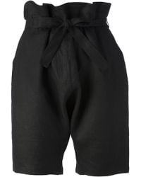 Reality Studio Black Taki Shorts - Lyst