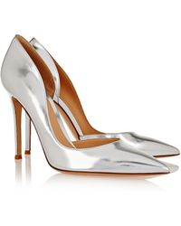 Gianvito Rossi Metallic Leather Pumps - Lyst