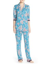 Lucky Brand - Print Cotton Blend Pajamas - Lyst