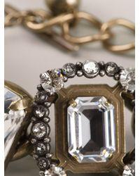 Lanvin - Chain Crystal Bracelet - Lyst