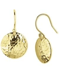 Argento Vivo Hammered Circle Drop Earrings - Lyst