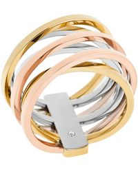 Michael Kors Criss Cross Ring gold - Lyst