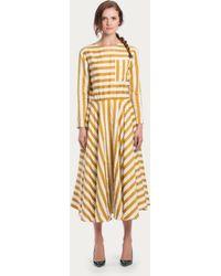 Bally Jacquard Full Skirt Dress - Lyst