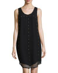 Ivy & Blu Studdedseam Chiffon Dress - Lyst