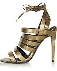 Topshop Rosie Strappy High Sandals - Lyst