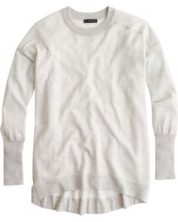 J.Crew Petite Merino-Cotton Tunic Sweater - Lyst
