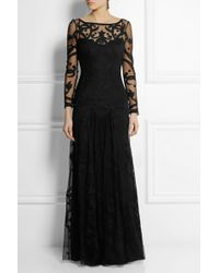 Temperley London Francine Embroidered Tulle Gown - Lyst