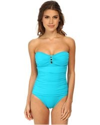 Tommy Bahama Pearl Bandeau One-Piece With Center Strings - Lyst