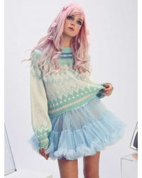 Wildfox | Fairisle Fancy Tate Sweater In Multi | Lyst