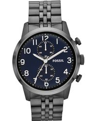 Fossil Mens Chronograph Townsman Smoketone Stainless Steel Bracelet Watch 44mm - Lyst