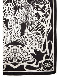 Matthew Williamson Wing Lace Black Silk Scarf - Lyst