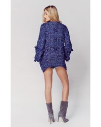 Planet Blue | Braided Cable Cardigan | Lyst