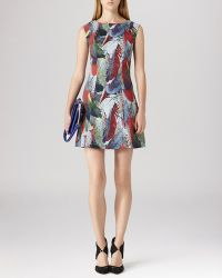 Reiss Dress  Ottoline Print Overlay - Lyst