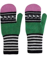 Quinton-chadwick - Green Chevron Wool Mittens - Lyst