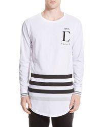 Civil Regime - 'league' Longline Long Sleeve T-shirt - Lyst