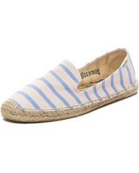 Soludos Classic Stripe Smoking Slipper pink - Lyst