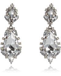 River Island Silver Tone Statement Gemstone Drop Earrings - Lyst