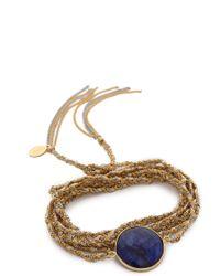 Sogoli | Stone Chain Wrap Bracelet - Silver/gold/lapis | Lyst
