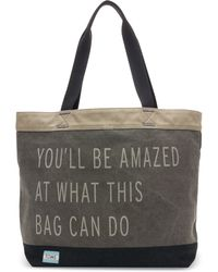 TOMS - Charcoal You'll Be Amazed Transport Tote - Lyst